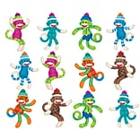 Trend Enterprises® 3 Mini Accents Variety Pack, Sock Monkeys Patterns, 36/Pack