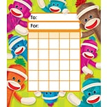 Trend Enterprises® Sock Monkeys Incentive Pad, 5 1/4 x 6