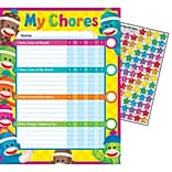 Trend Enterprises® Sock Monkeys Chore Chart, 8 1/2 x 11