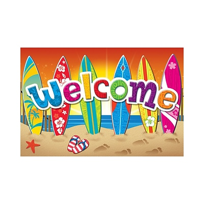 Teacher Created Resources Surfs Up Welcome Postcards, 30/Pack
