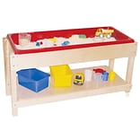 Wood Designs Sand and Water Table w/ Top/Shelf