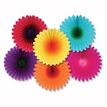 Beistle 6 Mini Flower Fans
