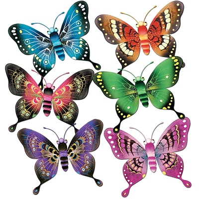 Beistle 5 Majestic Butterflies; Assorted, 12/Pack