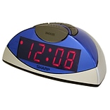 MZB Blue/Silver Sharp LED Alarm Clock