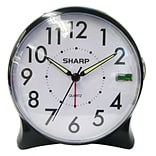 MZB BK/WH Quartz Table Alarm Clock