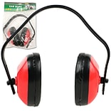 Stalwart™ Fully Adjustable Extra Comfort Ear Muff, Red/Black