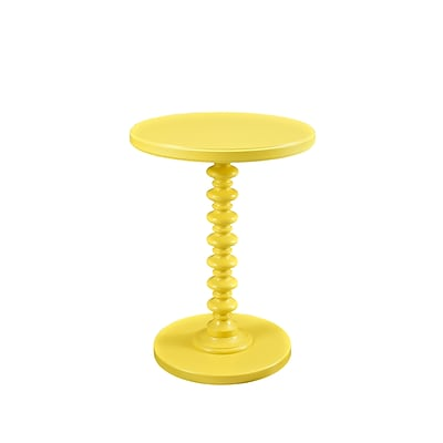Powell Furniture Spindle Table 22 Tall Wood Yellow