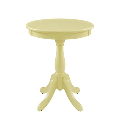 Powell Furniture Round Table 22 Tall Solid Hardwood Buttercup Yellow