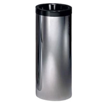Peter Pepper Cylindrical Waste Basket; Aluminum Metallic