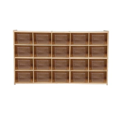 Wood Designs Contender 20 Tray Storage With Translucent Trays, Baltic Birch