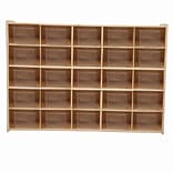 Wood Designs Contender Fully Assembled 25 Tray Storage With Translucent Trays, Baltic Birch