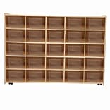 Wood Designs Contender Assembled 25 Tray Storage W/25 Translucent Trays and Casters, Baltic Birch