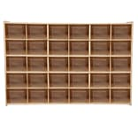 Wood Designs Contender 30 Tray Storage With Translucent Trays, Baltic Birch