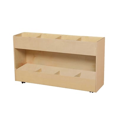 Wood Designs Contender 29(H) Ready-To Assemble Mobile Book Organizer