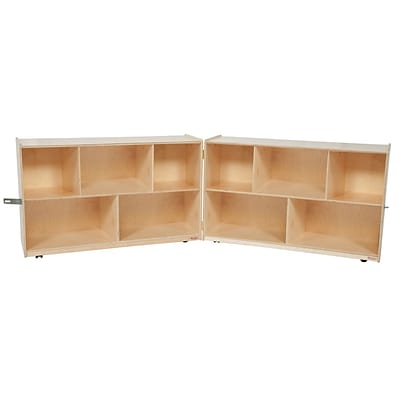 Wood Designs Storage 30H Folding Shelf Storage, Birch