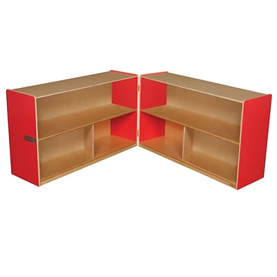Wood Designs Storage 30H Folding Versatile Storage, Strawberry Red