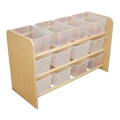 Wood Designs See-All Storage With 12 Clear Trays, Birch