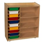 Wood Designs Sensorial Discovery Shelving With Assorted Trays, Birch