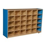 Wood Designs 30 Cubby Storage Cabinet Without Trays, Blueberry