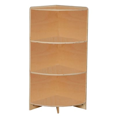 Wood Designs Storage 36H High Corner Shelf, Birch