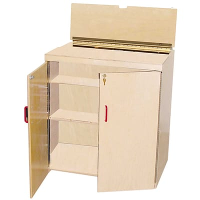 Wood Designs Plywood Lock-It-Up Audio Center, Birch