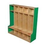 Wood Designs 48W Five Section Seat Locker, Green Apple
