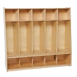 Wood Designs Tip-Me-Not 54W Five Seat Locker, Wood
