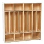 Wood Designs 48W Eight Section Space-Saver Locker