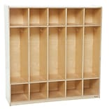 Wood Designs 54W Five Section Locker