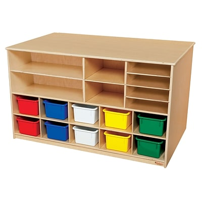 Wood Designs Storage Versatile Storage With 10 Assorted Trays, Birch