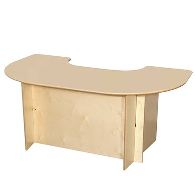 Wood Designs 52 x 29 1/2 Horseshoe Plywood Group Interaction Table, Natural