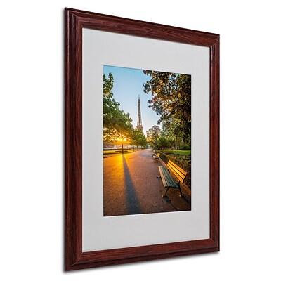 trademark fine art 20 x 16 canvas crazy morning light paris wood frame. Black Bedroom Furniture Sets. Home Design Ideas