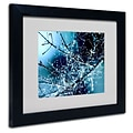 Trademark Fine Art 11 x 14 Acrylic Blue Rhapsody Artwork, Black Frame