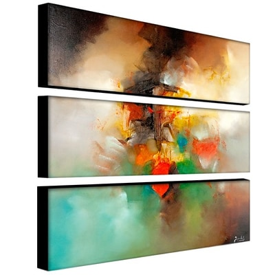 Trademark Fine Art 10 x 32 ABS, Canvas Gallery Wrapped Abstract I, 3/Set