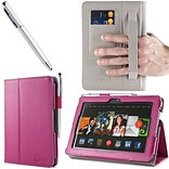 Magenta Leather Case F/Kindle Fire HDX 7