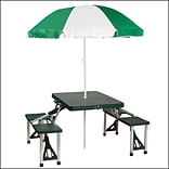 Stansport™ Picnic Table and Umbrella Combo Pack