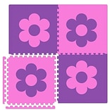 Alessco Economy SoftFloors Flower Set in Pink/Purple; 8 x 12