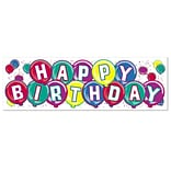 Beistle 3/Pack Happy Birthday Sign Banner