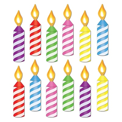 Beistle 6 1/2 Mini Birthday Candle Cutouts; Assorted, 84/Pack