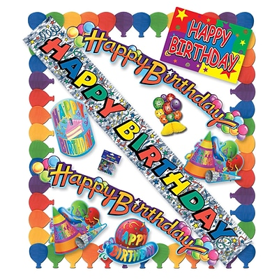 Beistle 11 Piece Happy Birthday Party Kit