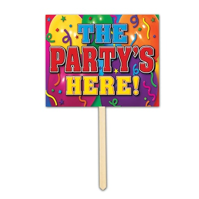 Beistle The Party's Here! Yard Sign
