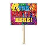 Beistle The Partys Here! Yard Sign