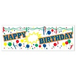 Beistle 5x21 Happy Birthday Sign Banner