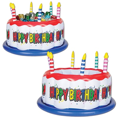 Beistle 16 x 24 Inflatable Birthday Cake Cooler