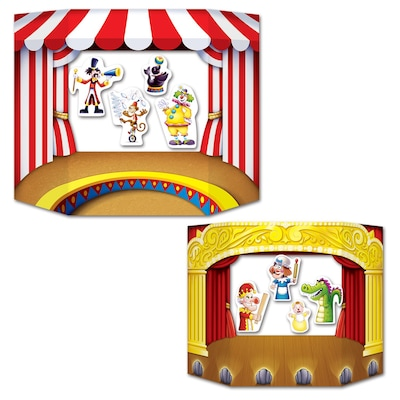 """3'1""""x25"""" Puppet Show Theater Photo Prop"""