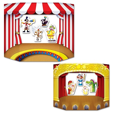 Beistle 3 1 x 25 Puppet Show Theater Photo Prop; 2/Pack