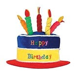 Beistle Plush Birthday Cake Hat, 2/Pack