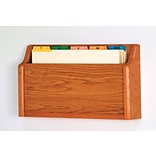 Wooden Mallet Single Pocket Square Bottom Legal Size File Holder; Medium Oak