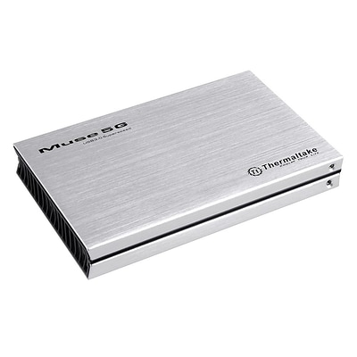 Thermaltake® Muse 5G 2.5 USB 3.0 External Hard Drive Enclosure, Silver