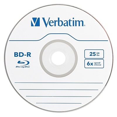Verbatim® 6 x 25GB Single Layer Blu-Ray Recordable Media